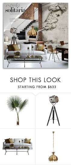 """Untitled #1347"" by maja-k ❤ liked on Polyvore featuring interior, interiors, interior design, home, home decor, interior decorating, John-Richard, Contempo Lights, Home and deringhall"