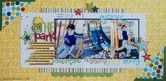 Summer Layout by @jbckadams Becki Adams #summer #scrapbooking #papercrafting #bellablvd
