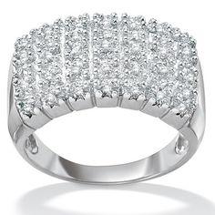 Palm Beach Jewelry Diamond Pave Cluster Ring