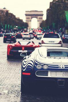 Bugatti and LaFerrari