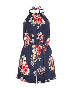 Discover the latest trends with New Look's range of women's, men's and teen fashion. Festival Outfits, Festival Fashion, Playsuit Romper, Floral Romper, Black Pattern, Teen Fashion, New Look, Floral Prints, Summer Dresses
