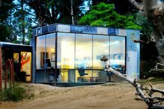 Branch Studio's Recycled Corrugated Iron Workspace Ages Gracefully | Inhabitat | The Reclamation Administration