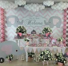 55 Trendy Ideas for baby shower girl elephant decorations grey Fiesta Baby Shower, Baby Shower Fun, Baby Shower Parties, Baby Shower Themes, Baby Boy Shower, Shower Ideas, Baby Girl Elephant, Elephant Party, Elephant Theme