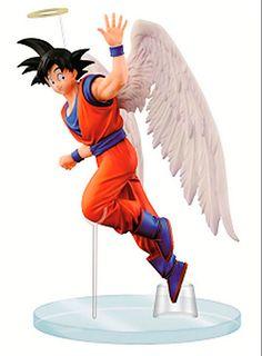 Figura Goku Angel, 16 cm. Dragon Ball. Banpresto. Dramatic Showcase  Banpresto ofrece una nueva línea de figuras en una colección llamada Dramatical showcase y en este caso se trata de Son Goku en una de sus poses mas memorables mientras saluda llevando alas de ángel y una aureola.