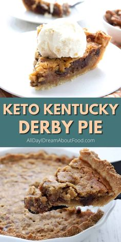 This gooey keto pie recipe features a tender almond flour pie crust and a rich chocolate chip pecan filling. It's the perfect marriage between keto pecan pie and warm chocolate chip cookies!