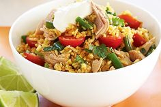 Quick and easy, this tuna and rice salad is a winner.