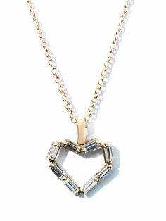 Diamond & rose gold heart necklace | Matchstick | Matchesfashi...