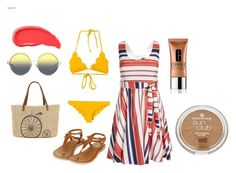 """""""Beach Day!"""" by kgirl114 on Polyvore featuring Topshop, Marysia Swim, Straw Studios, Matthew Williamson, Clinique and Urban Decay"""