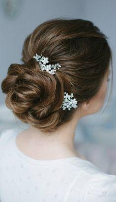 Свадебные заколки для волос Свадебные заколки Свадебный волосы кусок невесты Свадебный головной убор Свадебный Шиньон заколка для волос набор из двух