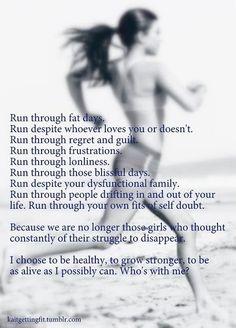 More Than Sayings: Run through fat days