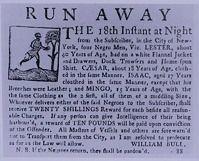 Runaway slave advertisements, 1745-1775
