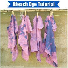 Summer Day Camp Bleach Tie-Dye Shirts / patchwork posse #diy #tiedye #kids