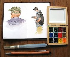 Make your own tiny watercolor pallettes - so many great ideas and sizes.
