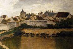 charles francois daubigny paintings | The Village, Auvers sur Oise