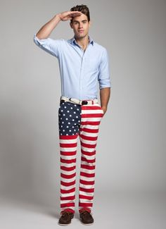 National Panthems American Flag Pants - Matt needs these, especially since he won't let me buy him the 'Merica Chubbies!