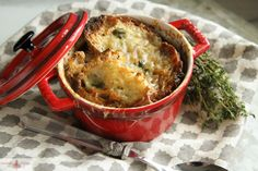 French onion soup with your fav red wine