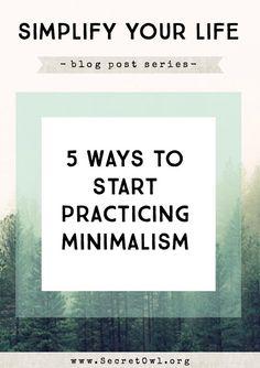 5 Ways to Start Practicing Minimalism #minimal #minimalistgigi | Minimalist GiGi // GiGi