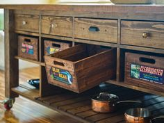 Fun storage inspired by vintage citrus crates!
