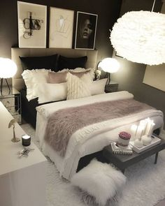 cozy grey and white bedroom ideas; bedroom ideas for small rooms; bedroom decor on a budget; bedroom decor ideas color schemes ideas for small rooms cozy white Budget Bedroom, Room Ideas Bedroom, Small Room Bedroom, Home Decor Bedroom, Cozy Bedroom, Bedroom Ideas For Small Rooms Women, Small Bedroom Decor On A Budget, Bedroom Decor For Women, Adult Bedroom Ideas