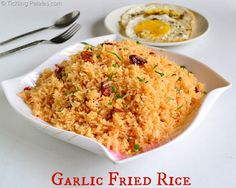 Garlic Fried Rice Recipe or Poor Man's Rice Dish usually with fish and egg