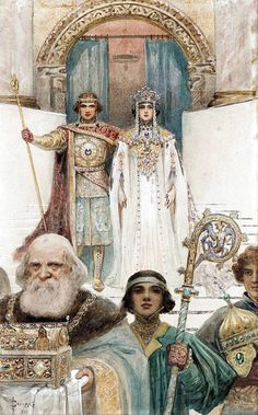 "Serge (Sergei) de Solomko (Russian, 1867-1928), ""Medieval Ceremony"" by sofi01, via Flickr"