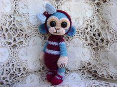 Artist Bear OOAK Crocheted Thread Teddy Monkey via Etsy