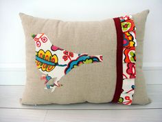 appliqued pleated ruffle pillow