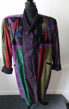 Grownbeans by Karen Groner Vintage Multi-Color Suede 3/4 Coat Size Medium $1100. #Grownbeans #34LengthCoat
