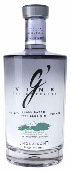 G'Vine Gin - An excellent French premium gin to have on hand. Alcohol Bottles, Gin Bottles, Water Bottles, Cocktails, Alcoholic Drinks, Whisky, Gins Of The World, Whiskey Recipes, Gin Brands