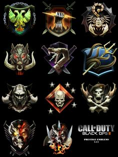 call of duty black ops 2 prestige emblems