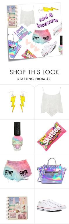 """Tumbler Saturday"" by casualbandgirl ❤ liked on Polyvore featuring Post-It, Milly, Converse, teen, artset and artexpression"