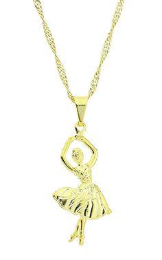 Gargantilha folheada a ouro e pingente em forma de bailarina ://secure.imagemfolheados.com.br/detalhes_prod.asp?id=G1281&a=3434