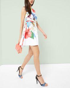 Forget Me Not skater dress - White | Dresses | Ted Baker