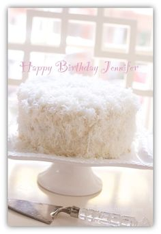Southern Coconut Cake with Coconut Buttercream Frosting Happy Birthday Jennifer !  ;) ...from Spinachtiger