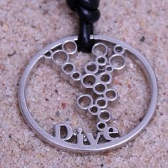 Scuba Diving Jewelry Scuba Gear Pewter Pendant Round Design By ZualSurfing Mother's Day Gift on Etsy, $23.00