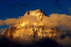 Stunning view of Sunset over Gasherbrum IV ( 7925 M ), Karakoram Pakistan