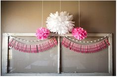 baby shower garland easy | paint chip garland flag
