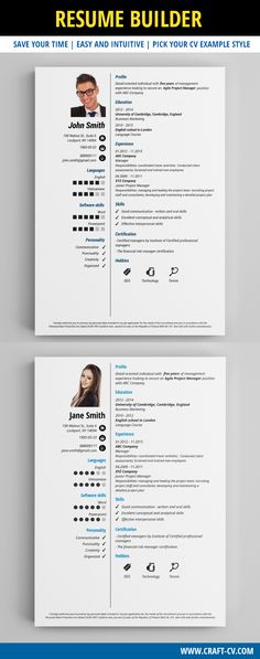 These Hypnotizing CV Examples Will Surely Help You Find A Job! Use Our CV  Templates To Build A Winning CV!