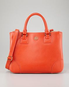 Orange is the new neutral and this shade of orange is delicious. Love everything about this Tory Burch bag.