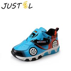 JUSTSL 2017 spring autumn new boys girls LED fashion sneakers children  sports shoes kids glowing running a3ffb16f13c9