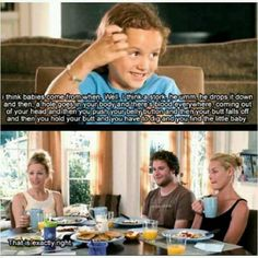 Knocked up. Oh god this girl is hilarious! the looks on their faces..lol.