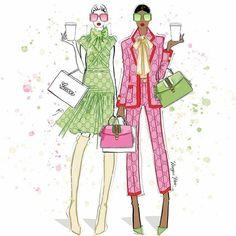 Megan Hess Illustration, Fashion Illustration Sketches, Illustration Art, Barbie Fashion Sketches, Kerrie Hess, Happy International Women's Day, Collage, Fashion Figures, Boutique
