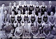 The REAL Hoosiers of the same name movie fame.  1954 State Basketball Champs, Milan, IN