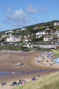 Woolacombe, Devon, in England was voted fifth best European beach by TripAdvisor. Woolacombe Beach, Great Places, Beautiful Places, Places To Travel, Places To Go, Devon Holidays, British Seaside, Photo Mug, Devon England