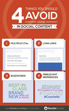 4 things to avoid when using social content!