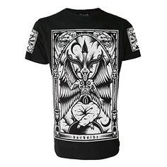 "BAPHOMET Mens Black T-Shirt (XX-Large 46"") Darkside Clothing"