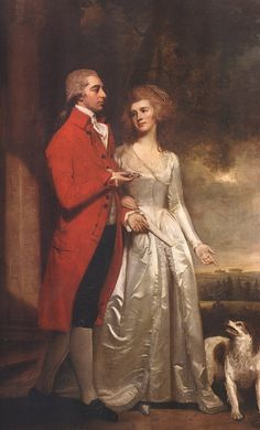 """The Evening Walk"", Sir Christopher Sykes,  Baronet of Sledmere amd Lady Sykes (nee Elizabeth Tatton)"
