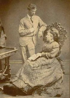 British sculptor, Sir Joseph Edgar Boehm, with Princess Louise, the sixth child of Queen Victoria and Prince Albert, in about 1885.
