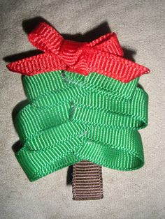 Christmas trees hair clip! | Bownanza!