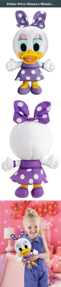 """Fisher-Price Disney's Minnie Mouse Sweet Gal Daisy Toy. Don't you just love pretty purple bows?"""" Daisy is such a sweet gal, and now your pal comes alive with this floppy, stylized, talking plush, Sweet Gal Daisy. She's super soft, cuddly and huggable - but that's not all! Press her tummy and you'll hear super-sweet sounds and signature phrases. That's right - you can talk with one of your favorite Clubhouse pals, Daisy Duck! """"Being with you makes me so happy!"""" Lots of cute sounds and…"""